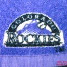 Colorado Rockies Rally Towel Baseball 2010 Logo Purple 12 inch .f