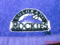Colorado Rockies Rally Towel Baseball 2010 Logo Purple 12 inch .f