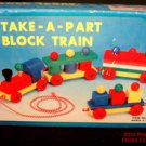 Take a Part Block Train Child Friend Taiwan #9096A Non Toxic Vtg Original Box .f