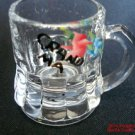 Grandma Shot Glass Hand Painted Flowers Pink Blue Handle Mother's Gift 1p.f