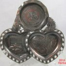 New Mexico Scenes 3 Section Dish Place 3 inch Metal .a