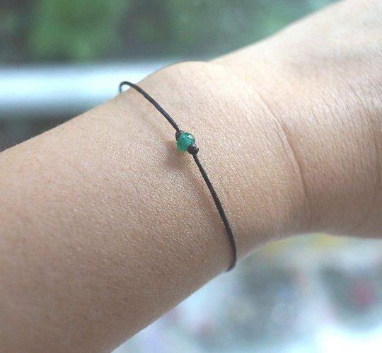 4mm Faceted Green Emerald Jade Rondelle Bracelet/Anklet