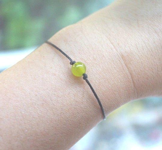 Handmade 6mm Green Lime Jade Bracelet/Anklet