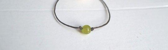 6mm Green Lime Jade Choker/Necklace