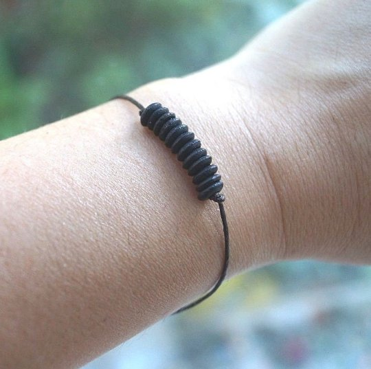 Handmade Black Abacus Bone Beads Design Bracelet/Anklet