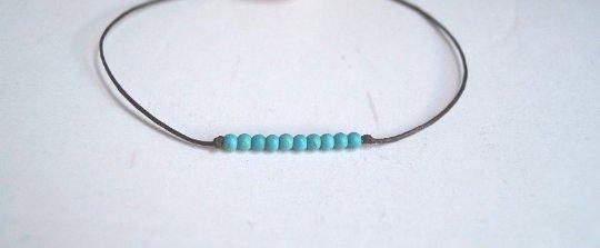 Minimalist Turquoise Beads Choker/Necklace