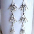 OOAK Beautiful Long Exotic Dangle Tribal Earrings