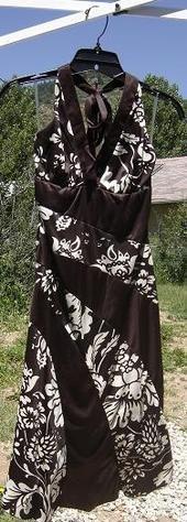 Floral print halter dress size S