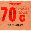 (I.B) Australia - Victoria Railways : Parcel 70c (Ballarat)