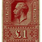 (I.B) George V Revenue : Unappropriated Die Proof £1