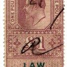 (I.B) Edward VII Revenue : Law Courts (Scotland) £1