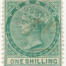(I.B) Tobago Revenue : Duty Stamp 1/-