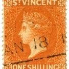 (I.B) St Vincent Revenue : Duty Stamp 1/-