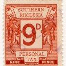 (I.B) Southern Rhodesia Revenue : Personal Tax 9d