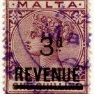 (I.B) Malta Revenue : Duty Stamp 3d on 1/- OP