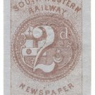 (I.B) London & South Western Railway : Newspaper Ticket 2d
