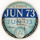 (I.B) GB Revenue : Car Tax Disc (Vauxhall 1973)