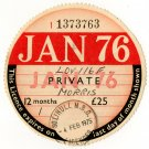 (I.B) GB Revenue : Car Tax Disc (Morris 1976)