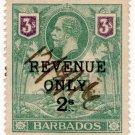 (I.B) Barbados Revenue : Duty 2/- on 3/- OP