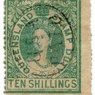 (I.B) Australia - Queensland Revenue : Stamp Duty 10/-