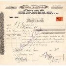 (I.B) South Africa Revenue : Duty Stamp 1/- (Share Certificate - complete doc)