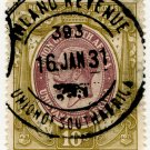 (I.B) South Africa Revenue : Duty Stamp 10/-