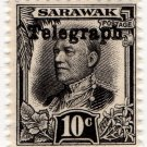 (I.B) Sarawak Telegraphs : Overprint 10c