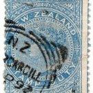 (I.B) New Zealand Revenue : Stamp Duty 2/- (Invercargill postal)