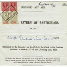 (I.B) George VI Revenue : Police Courts 5/- (North Dulwich Lawn Tennis Club)