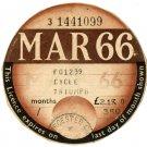 (I.B) GB Revenue : Car Tax Disc (Triumph Motorcycle 1966)