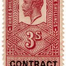 (I.B) George V Revenue : Contract Note 3/-