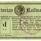 (I.B) Australia - Victoria Railways : Parcels 1d