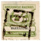 (I.B) Australia - NSW Railways Parcel 3/- (Narrandera)