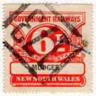 (I.B) Australia - NSW Railways Parcel 6d (Mudgee)
