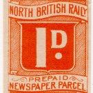 (I.B) North British Railway : Newspaper Parcel 1d