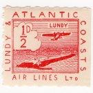 (I.B) Lundy & Atlantic Coasts Air Lines Ltd : ½d Red