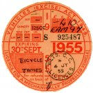 (I.B) GB Revenue : Car Tax Disc (James Motorcycle 1955)