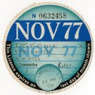 (I.B) GB Revenue : Car Tax Disc (Ford 1977)