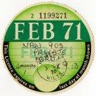 (I.B) GB Revenue : Car Tax Disc (Ford 1971)