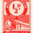 (I.B) Australia - Western Australia Railways : Parcel ½d