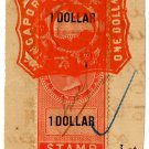 (I.B) Straits Settlements Revenue : Judicial $1 (Singapore)