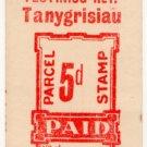(I.B) Festiniog Railway : Parcel Stamp 5d (Tanygrisiau)