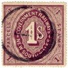 (I.B) Australia - NSW Railways Parcel 1/-