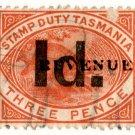(I.B) Australia - Tasmania Revenue : Stamp Duty 1d on 3d