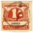 (I.B) Australia - NSW Railways Parcel 1/- (Sydney)