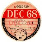 (I.B) GB Revenue : Car Tax Disc (Ford 1968)