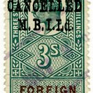 (I.B) Edward VII Revenue : Foreign Bill 3/- (MBI pre-cancel)