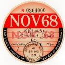 (I.B) GB Revenue : Car Tax Disc (Disabled Driver 1968)
