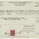 (I.B) George V Revenue : Contract Note (Northern Ireland) 6d (complete doc)