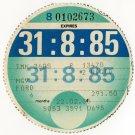 (I.B) GB Revenue : Car Tax Disc (Ford HGV 1985)